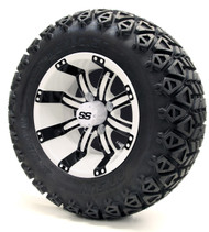 "12"" GTW Tempest SS White/Black Wheels 