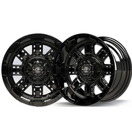"12"" Madjax Machined Black Transformer Wheels and Lifted Tire Options"