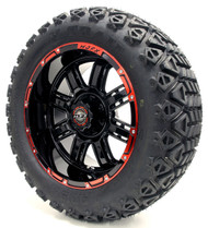 14'' Red Black Transformer Wheel and X-Trail Tire | Choose Lift Kit Combo