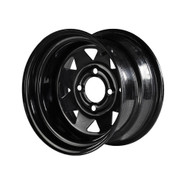 12'' Black Steel wheels - Low Profile Combo