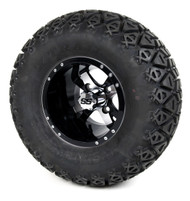 SS 10'' Machined Black Twister Wheel and All Terrain Tire Combo