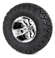 """10"""" Storm Trooper Machined Black  Wheel and X-Trail Tire   Choose Lift Kit Combo"""