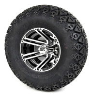 "10"" Machined and Black Specter SS Wheel and X-Trail Tire 