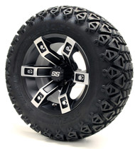 12'' Machined and Black Brute SS Wheels   Lifted Tires   Lift Kit Combo