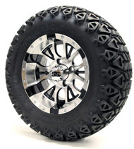 "12"" Diesel SS Machined Black Wheels 