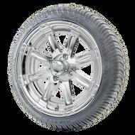 "14"" RHOX Vegas Chrome Wheels (ET-0)   LowPro Tires Combo"