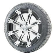 "14"" RHOX Vegas Machined Wheels (ET-0) | LowPro Tires Combo"