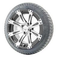 "14"" RHOX Vegas Machined Wheels   LowPro Tires Combo"