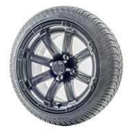 """14"""" RHOX Vegas Matte Black Wheels   LowPro Tires Combo"""