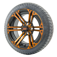 "14"" RHOX RX354 Black and Orange Wheels 