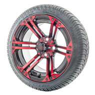 "14"" RHOX RX354 Black and Red Wheels 