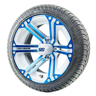 "14"" RHOX RX354 White and Blue Wheels 