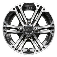 "12"" RHOX RX333 Machined/Black Golf Cart Wheel"