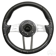 Carbon Fiber Grip/Brushed Aluminum Aviator 4 - Steering Wheel