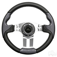Carbon Fiber Grip/Brushed Aluminum Aviator 5 - Steering Wheel