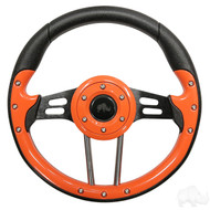 Orange Grip/Black Spokes Aviator 4 - Steering Wheel