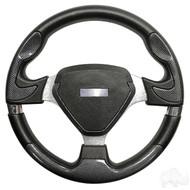 Carbon Fiber Grip/Brushed Aluminum Bonneville - Steering Wheel
