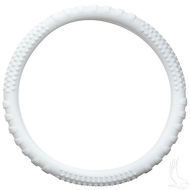 Rubber Steering Wheel Cover - White