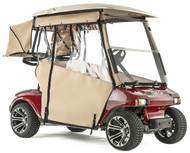 "Club Car DS 2000 1/2-up  ""PRO-TOURING"" 3-Sided Sunbrella Track Style Golf Cart Enclosure"