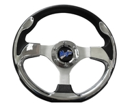 Madjax Ultra II Golf Cart Steering Wheel - Chrome 13""
