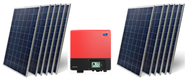 Heckert Nemo 60P 3000 Watt Solar Panel Module Kit
