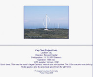 Darrieus Vertical Axis Wind Turbine Wind Turbine