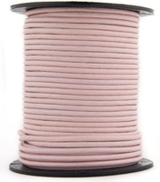 Pink Candy Round Leather Cord 1.0mm 25 meters