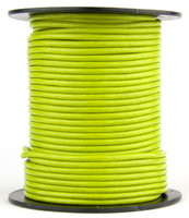 Light Green Round Leather Cord 2.0mm 25 meters