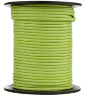 Lime Green Round Leather Cord 1.0mm 100 meters