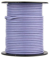 Light Purple Round Leather Cord 1.0mm 100 meters