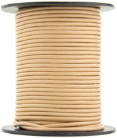 Sand Round Leather Cord 2.0mm 50 meters