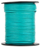 Turquoise Round Leather Cord 1.5mm 50 meters
