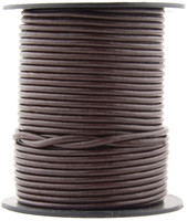 Brown Dark Round Leather Cord 1.0mm 25 meters