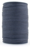 Midnight Blue Round Waxed Cotton Cord 2mm 100 meters
