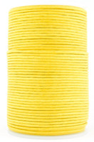 Yellow Round Waxed Cotton Cord 2mm 100 meters
