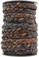 Gypsy Sippa Natural Dye Flat Braided Leather Cord 10 mm 1 Yard