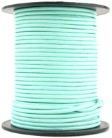 Aqua Round Leather Cord 2mm 25 meters