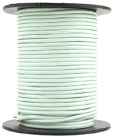 Hint of Mint Round Leather Cord 1mm 100 meters