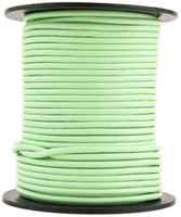 Mint Round Leather Cord 2mm 25 meters