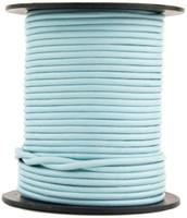 Baby Blue Round Leather Cord 1mm 100 meters
