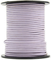 Lavender Round Leather Cord 2.0mm 100 meters