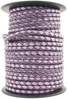 Purple Twilight Round Bolo Braided Leather Cord 4 mm 1 Yard