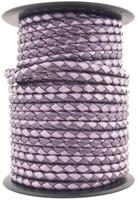 Purple Twilight Round Bolo Braided Leather Cord 5 mm 1 Yard