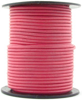 Pink Round Leather Cord 1.5mm 50 meters