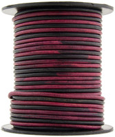 Artistic Pink Round Leather Cord 1.0mm 25 meters