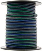 Kinte Blue Round Leather Cord 1.5mm 10 Feet