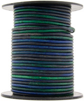 Kinte Blue Round Leather Cord 1.5mm 25 meters