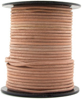 Rawhide Natural Round Leather Cord 3.0mm 25 meters