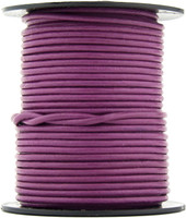 Magenta Round Leather Cord 1.0mm 100 meters