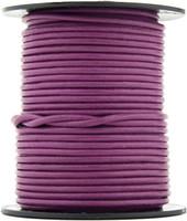Magenta Round Leather Cord 2.0mm 10 Feet